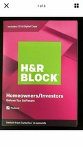 2019  H&R BLOCK Tax Software Deluxe Homeowners Investors  Federal  PC/MAC - $8.86