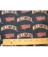 "MINNESOTA TWINS MLB COTTON FABRIC 1/4 YARD X 57"" for Mask FREE SHIP New ... - $20.99"