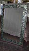 Gorgeous Bathroom Mirror With Decorative Glass ... - $470.25