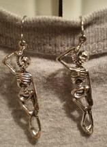 Skeleton Horror Halloween Charm Goth Punk Earrings  - $7.83