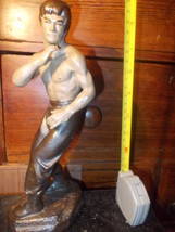 vintage Bruce Lee pottery figure 23.5 cm    scarce  - $34.00