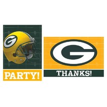 Green Bay Packers NFL Pro Football Sports Party Invitations & Thank You Notes - $10.66