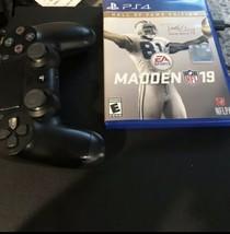 Sony PlayStation 4 PS4 Slim System 1TB + MADDEN 19 + HOF Edition  Hardly... - $282.15