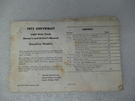 Chevy Pickup TCHEV10   1975 Owners Manual 17372 - $17.77