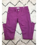 7 For All Mankind Women's Jeans Pants Purple/Pink Skinny Size 4 - $28.88