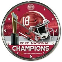 Alabama Crimson Tide 2020 National Champions 12'' Chrome Wall Clock - $31.67