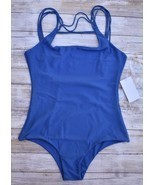 MIKOH SWIMWEAR ATHENS FRONT STRING OPEN BACK ONE PIECE SWIMSUIT (XL) NWT... - £98.78 GBP