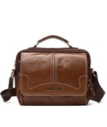 BDF New Cowhide Genuine Leather Messenger Bag Men Shoulder Satchel Handb... - $68.09