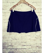 women's Xersion black/white trim athletic skort size large - $14.01