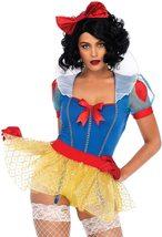 Women's Sexy Miss Rebel Snow White Disney Cosplay Deluxe Costume Set