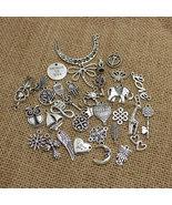 100pcs/lot Mixed Antique Silver Plated European Bracelets Charm Fashion ... - $12.99