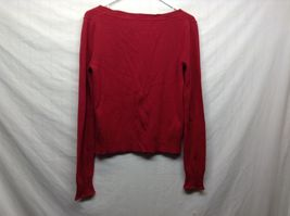Aeropostale Red Button Up Cardigan Sz XL image 4