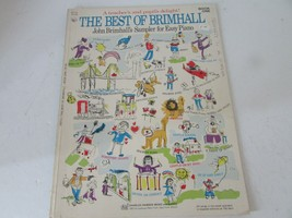 VTG SHEET MUSIC BOOK THE BEST OF BRIMHALL SAMPLER FOR EASY PIANO 1971 BO... - $7.87