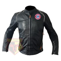 BAYERN MUNICH FOOTBALL CLUB COWHIDE LEATHER MOTORBIKE MOTORCYCLE ARMOURE... - $209.99
