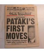 New York Post December 30 1994 Pataki Bobby Hall pilot NHL Doom Date Cli... - $39.99