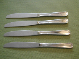 Towle Beacon Hill stainless set of 4 dinner knife knives solid handled - $22.72