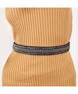 New S M Style CO Beaded Stretch Skinny Stretch Belt Elastic Women's Sash... - $7.79