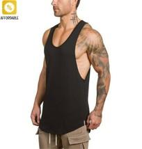 Bodybuilding Tanks Men Gym Stringer Singlet Workout Fitness Shirt Vest T... - $15.30