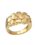 10K Yellow Gold Mens Nugget Ring - $359.99