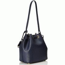 $328 Michael Kors Greenwich Medium Bucket Handbag NAVY - $168.29