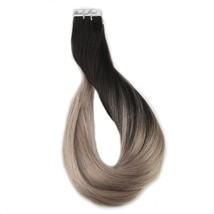 Full Shine Ombre Tape in Hair Extensions Human Hair Remy Colored Hair Ex... - $94.84