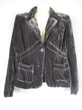 Axcess by Liz Claiborne Women's Sz 4 Velour Silver Jacket Fashion Blazer - $20.00