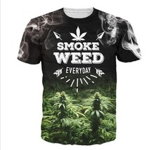 2016 Weed Everyday T-Shirt Women Men 3d Printing t shirt Casual Summer Style Tee