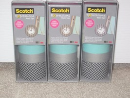 Lot of 3 - Scotch Expressions Washi Tape, Multi-Pack with Storage Box, 3... - $16.99