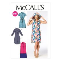 McCall Pattern Company M6885 Misses' Dresses and Hat Sewing Template, Size F5 (1 - $14.21