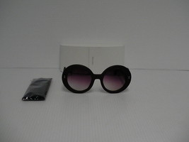 Womens Prada sunglasses new SPR 27RS round wood frame plastic arm made i... - $197.95