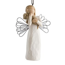 Willow Tree hand-painted sculpted Ornament, Angel of Friendship image 1