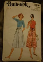 Vintage Butterick 5896 Wrap Skirt 5 Piece Pattern Size Petite Small Medi... - $8.05