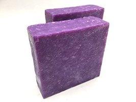 Handmade oak moss and lavender scrub cold process soap 5 oz - $6.92