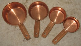 4-Piece Copper Alloy Coated Measuring Cups 1/3 1/4 1/2 1 Cup Set Free Sh... - $18.81
