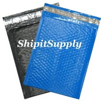 2-500 #0 6.5x10 Poly ( Blac & Blue ) Combo Color Bubble Padded Extra Wid... - $3.46+