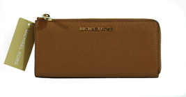 NEW MICHAEL Michael Kors Bedford Large Three Quarter Zip Leather Wallet,... - €107,32 EUR