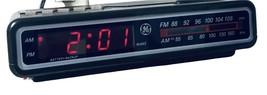 VTG 1980's GE Digital Brown AM/FM Alarm Clock Radio Model# 7-4612A Teste... - $27.71