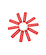 New 10pcs White/Red Remove Before Flight Keychain Aviation Tags Rings - $8.80