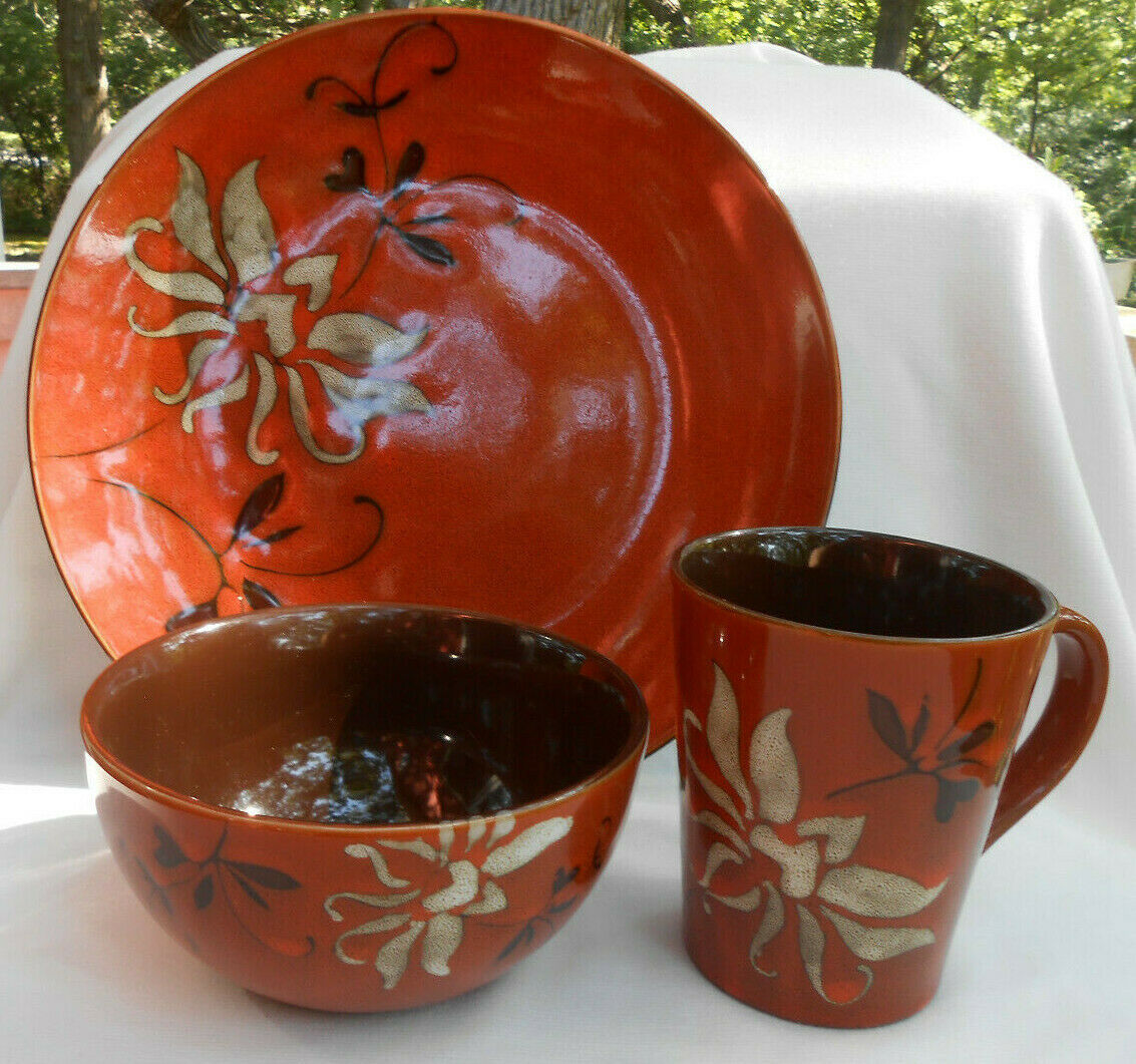 Primary image for 4 P AMERICAN ATELIER MIRABEL PAPRIKA DINNERWARE DINNER PLATE SOUP BOWL