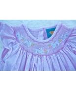 Smocked Pink Bishop Dress Easter Bunnies Seersucker Girls 4 Mias Boutique - $27.00