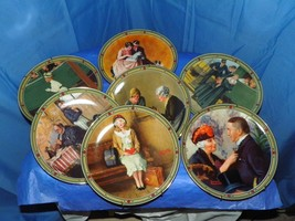 EDWARD KNOWLES FINE CHINA COLLECTION OF 7 BY NORMAN ROCKWELL PAINTINGS O... - $74.25