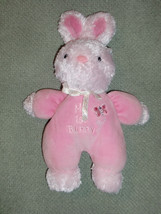 """Carter's My 1st Bunny Pink Soft Baby Plush Rattle 10"""" Just One Year Lovey 10"""" - $14.10"""