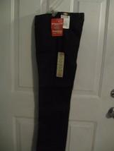 NWT Black Dickies JR Flat Front Flare Pants School Wear 0RG/26W Stretch New - $23.36