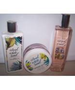 3 Piece Bath & Body Works Island White Sand Set- Shower Jelly, Lotion & ... - $28.95