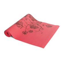Tone Fitness Yoga Mat with Floral Pattern, Red - $414,27 MXN