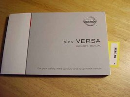 2012 Nissan Versa Owners Manual [Paperback] Nissan - $20.73