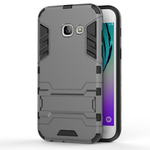 Kickstand Protective Cover Case For Samsung Galaxy J3 (2017) / Emerge  - Gray  image 2