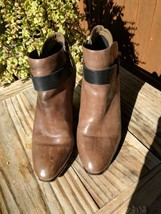 Dolce Vita womens brown ankle boots with black strap size 4 SUPER CUTE   - $56.09