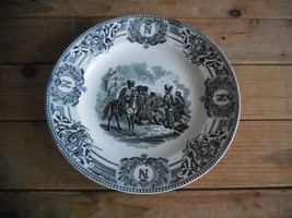Vintage Belgian Keramis B.F. decorative plate Bataille De Montereau 18th... - $46.00