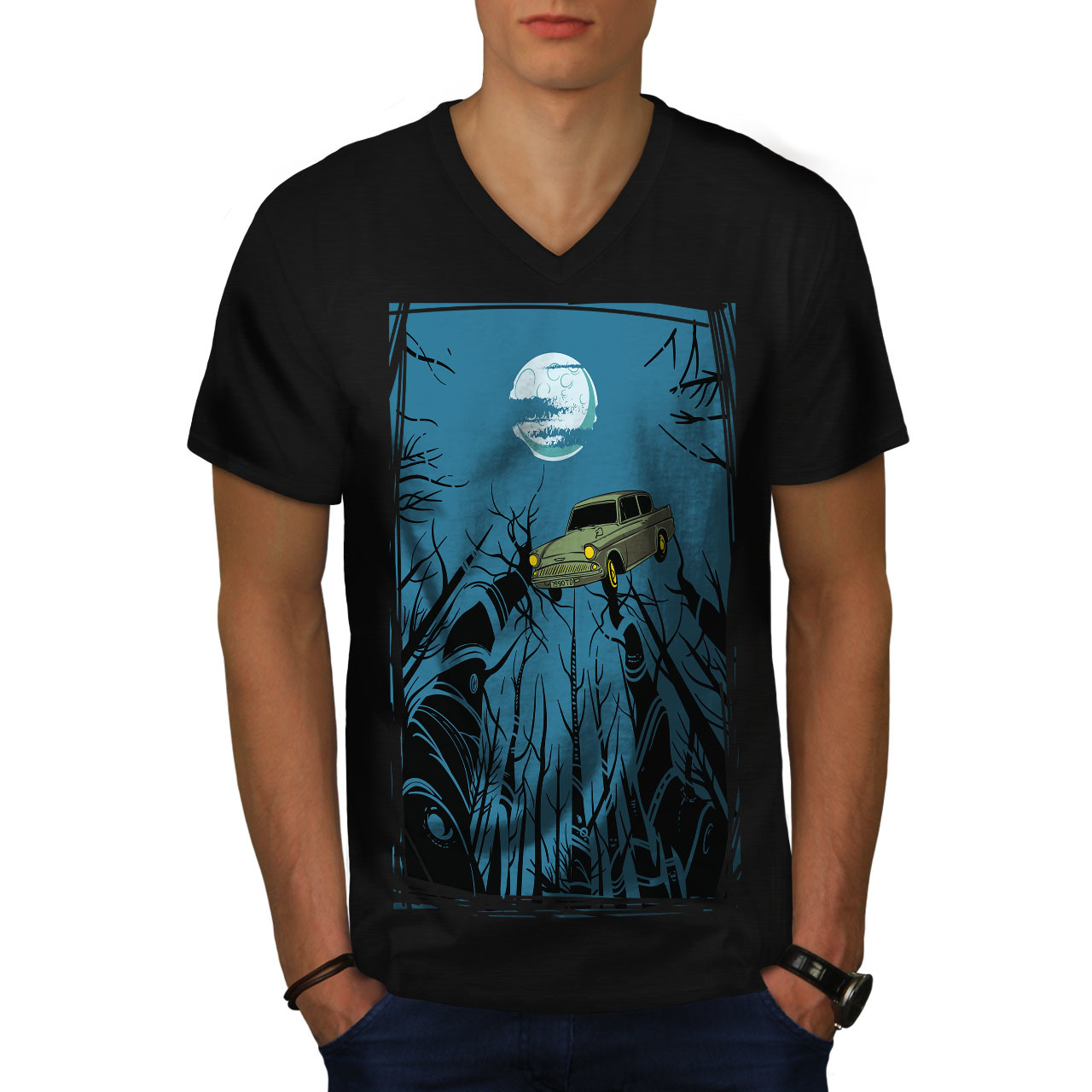 e76abed0406 Car Dreams Shirt Mystic Night Men V-Neck and 50 similar items